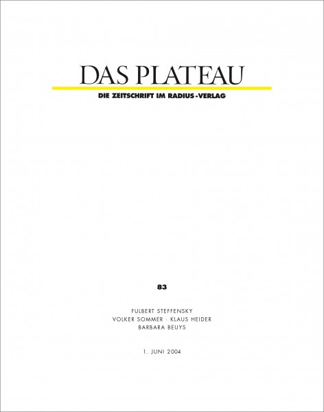 DAS PLATEAU No 83