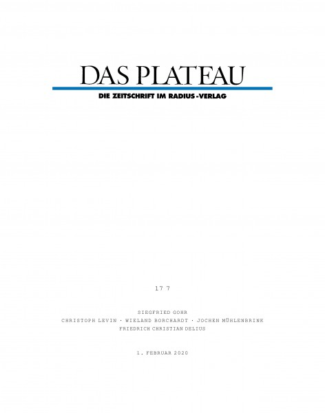 DAS PLATEAU No 177