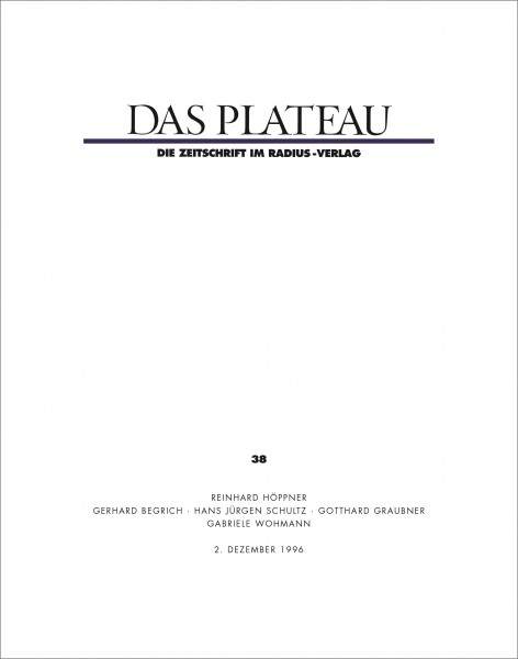 DAS PLATEAU No 38