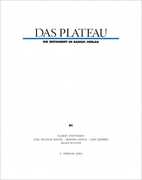DAS PLATEAU No 81