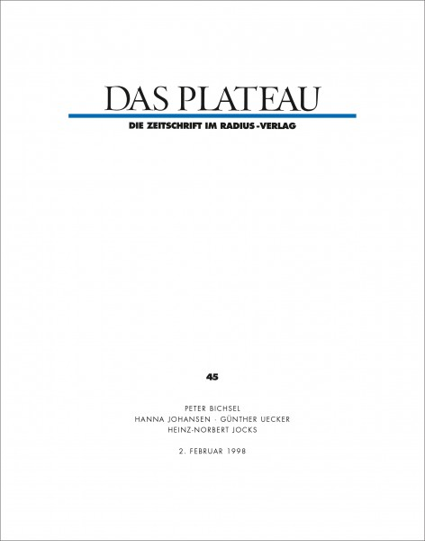 DAS PLATEAU No 45
