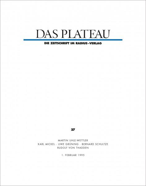 DAS PLATEAU No 27