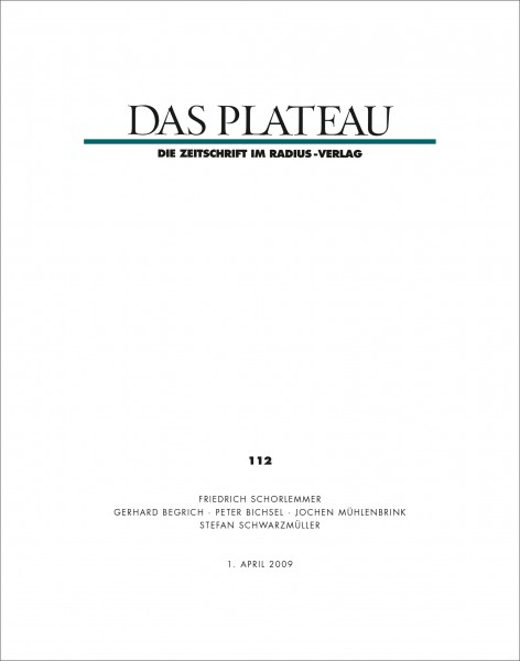 DAS PLATEAU No 112