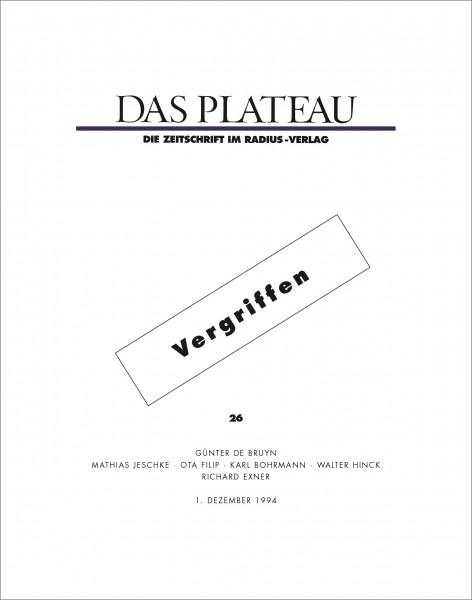 DAS PLATEAU No 26