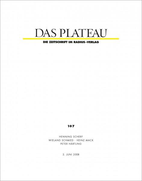 DAS PLATEAU No 107