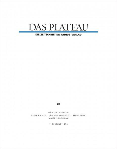 DAS PLATEAU No 21