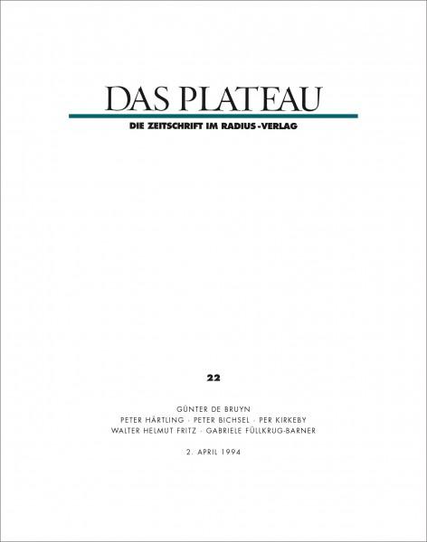 DAS PLATEAU No 22