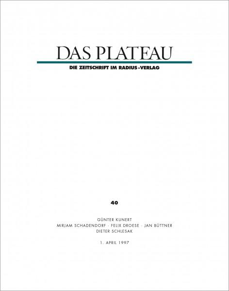 DAS PLATEAU No 40