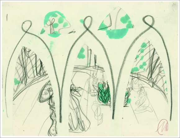 o.T. (Zeichnungen zu Verdis »Troubadour«)