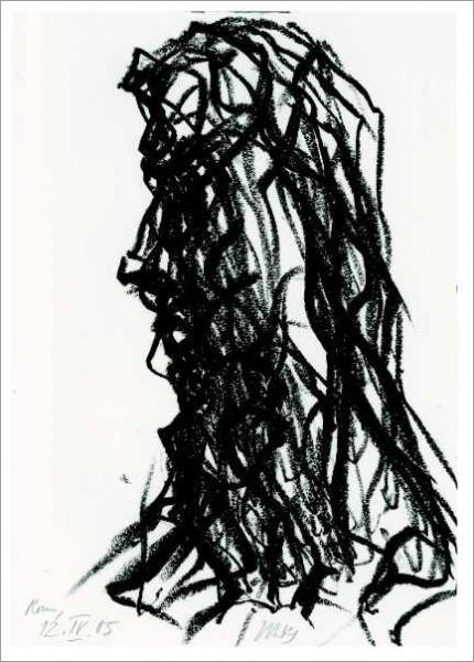 »Seitlicher männl. Kopf einer barocken Figur (Villa Massimo)«