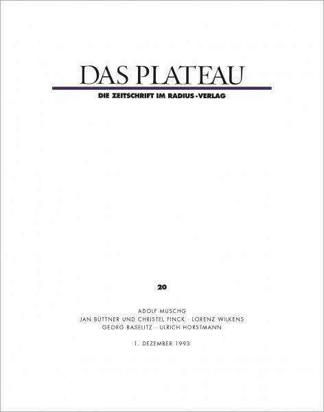 DAS PLATEAU No 20