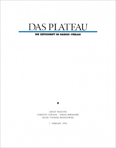 DAS PLATEAU No 9