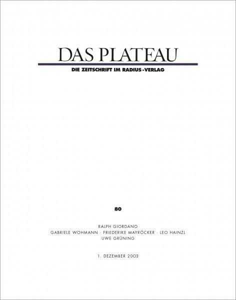 DAS PLATEAU No 80