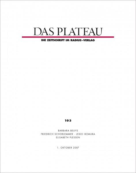 DAS PLATEAU No 103