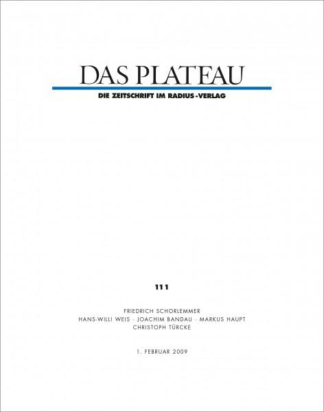 DAS PLATEAU No 111