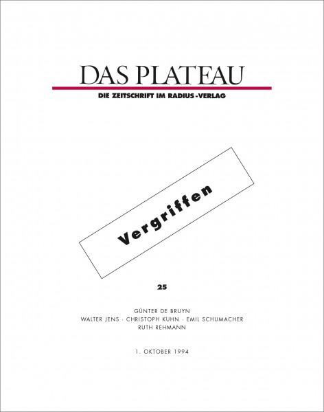 DAS PLATEAU No 25