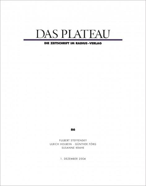 DAS PLATEAU No 86