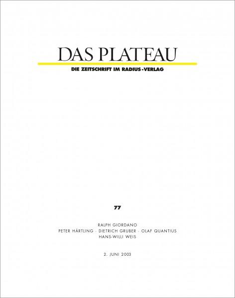 DAS PLATEAU No 77