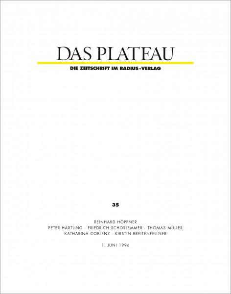 DAS PLATEAU No 35