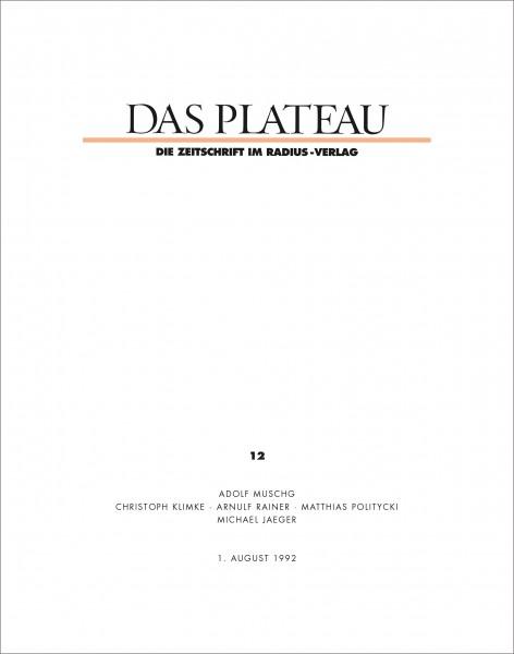 DAS PLATEAU No 12