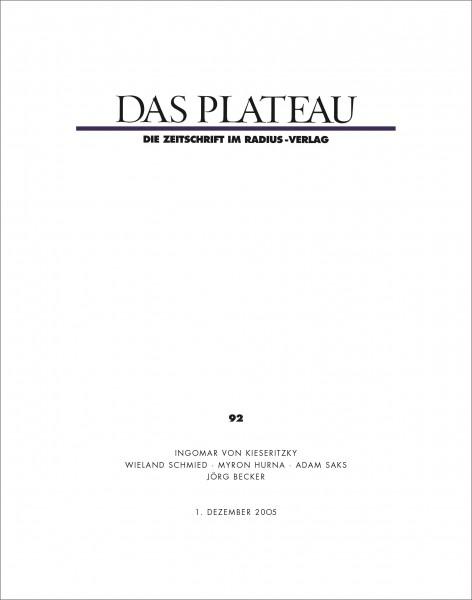 DAS PLATEAU No 92