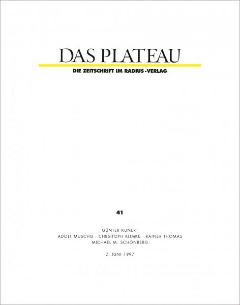 DAS PLATEAU No 41
