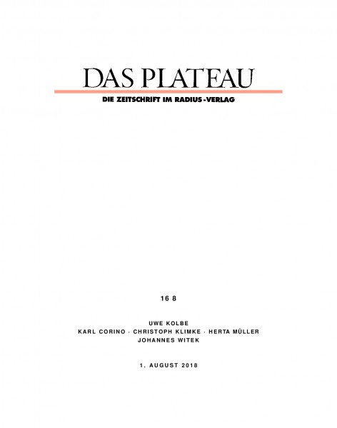 DAS PLATEAU No 168