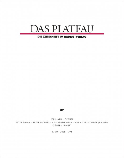 DAS PLATEAU No 37