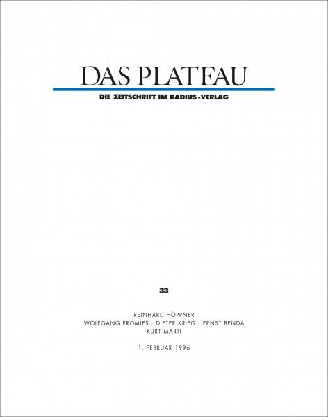 DAS PLATEAU No 33