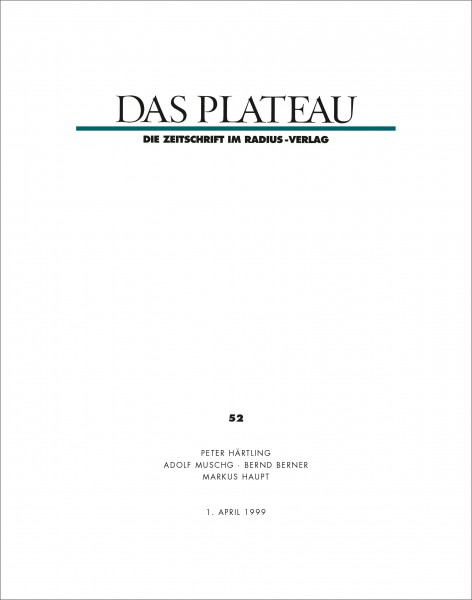 DAS PLATEAU No 52