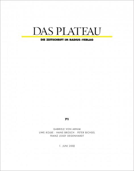 DAS PLATEAU No 71