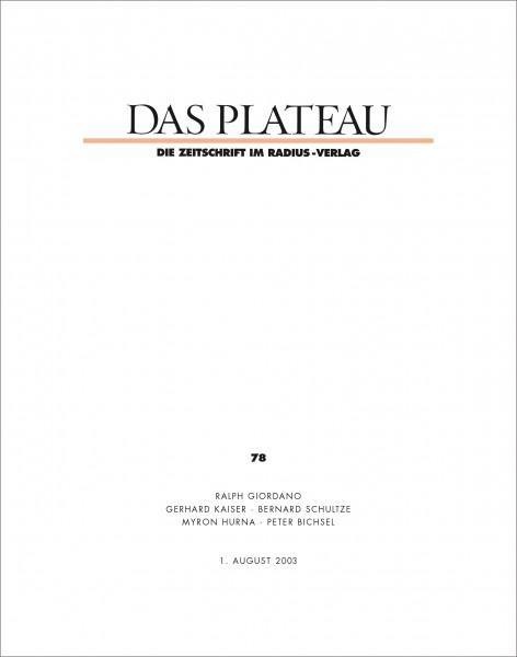 DAS PLATEAU No 78