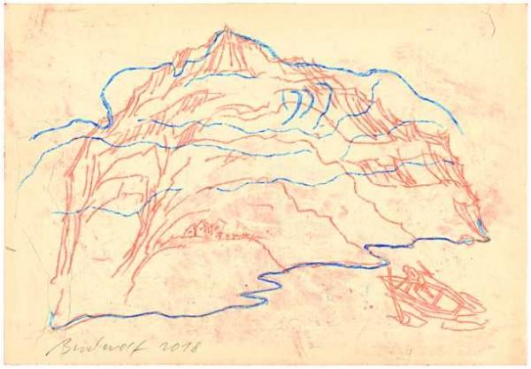 »Schiffer nähert sich dem Bergkopf San Giorgio«