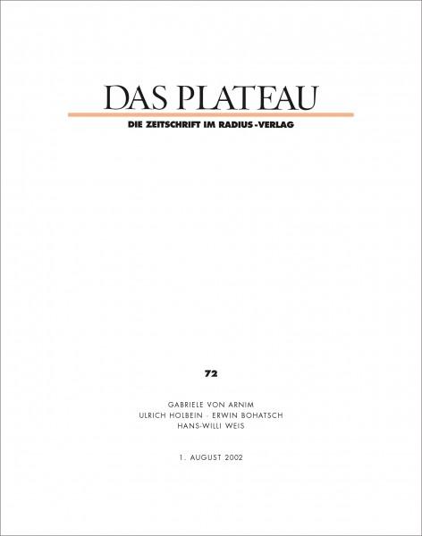 DAS PLATEAU No 72