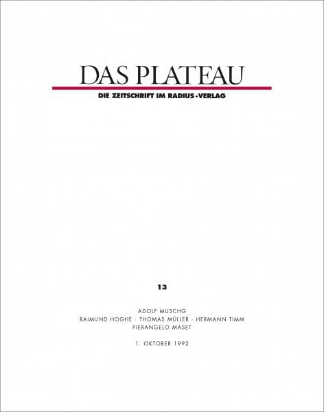 DAS PLATEAU No 13