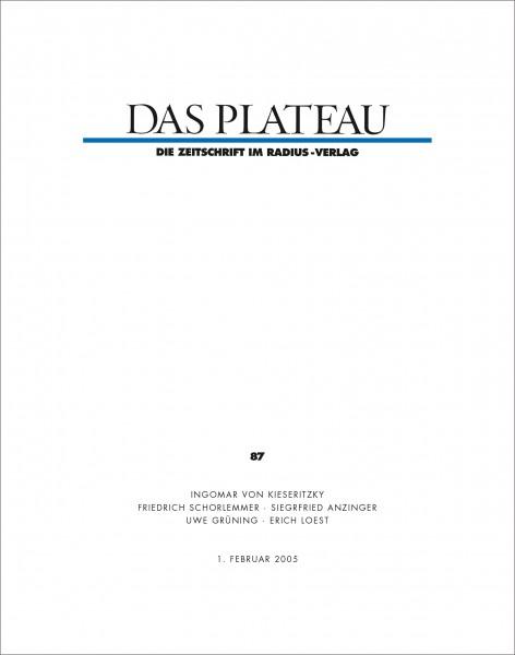 DAS PLATEAU No 87