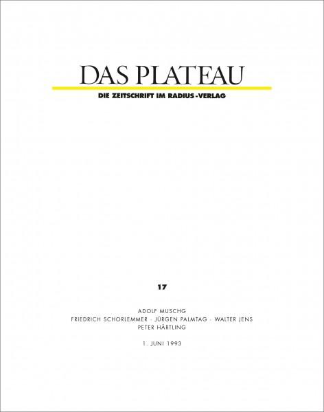 DAS PLATEAU No 17