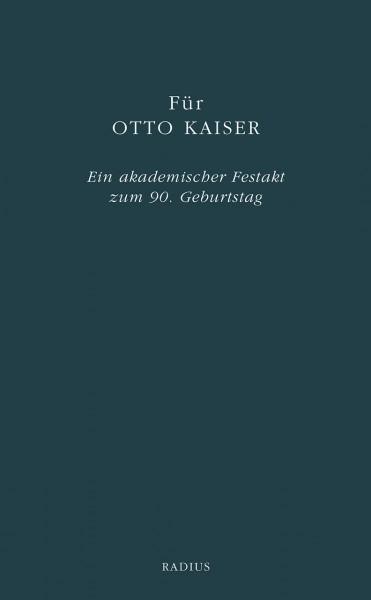 Für Otto Kaiser