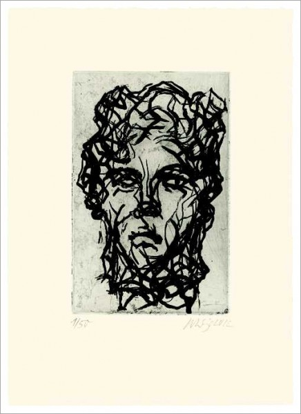 »Skizze nach antikem Frauenkopf«