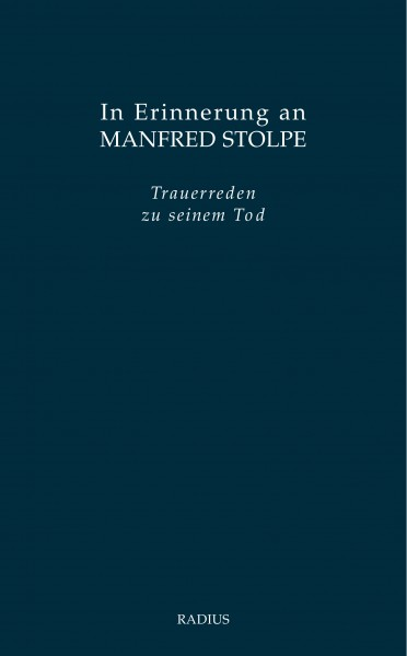 In Erinnerung an Manfred Stolpe