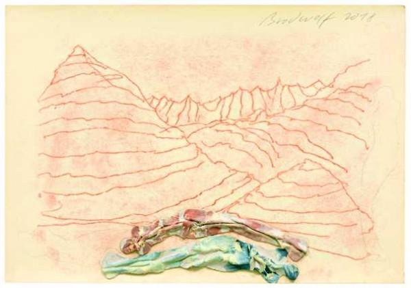 »Liegende auf der Alp Agra mit Blick auf den Monte Ferraro«
