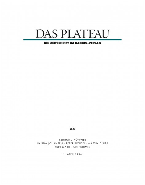 DAS PLATEAU No 34